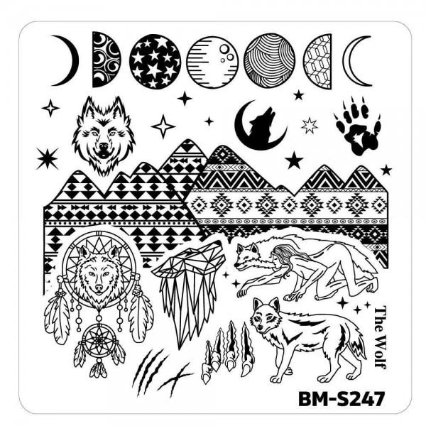 Stamping Schablone BM-S247