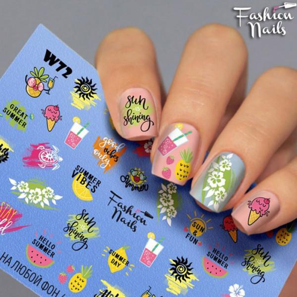 Katze Hund Slider Fashion Nails Bunt Design