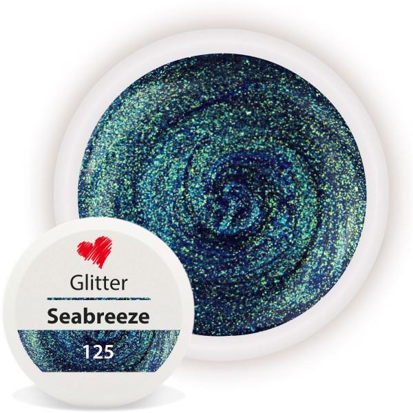 Glitter Farbgel Seabreeze Blau