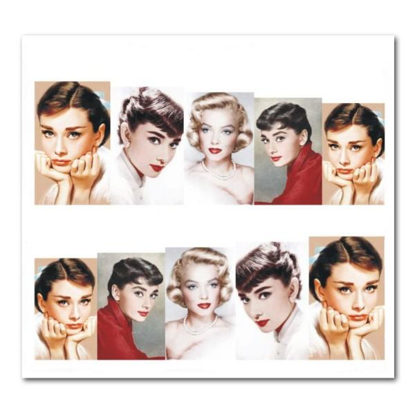 Nailart Tattoo Audrey Hepburn 3