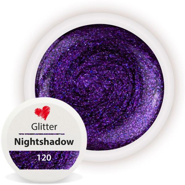 Glitter Farbgel Nightshadow Purple 5ml