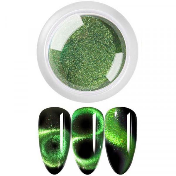 9D Cat Eye Pigment Effekt nails