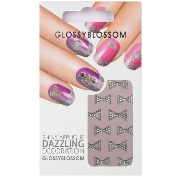 Glossy Blossom Nail Sticker 14 schleife