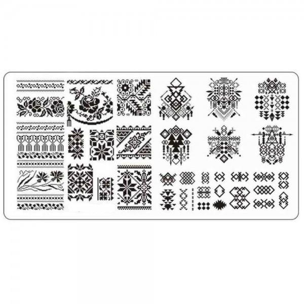 Stamping Schablone Geometric