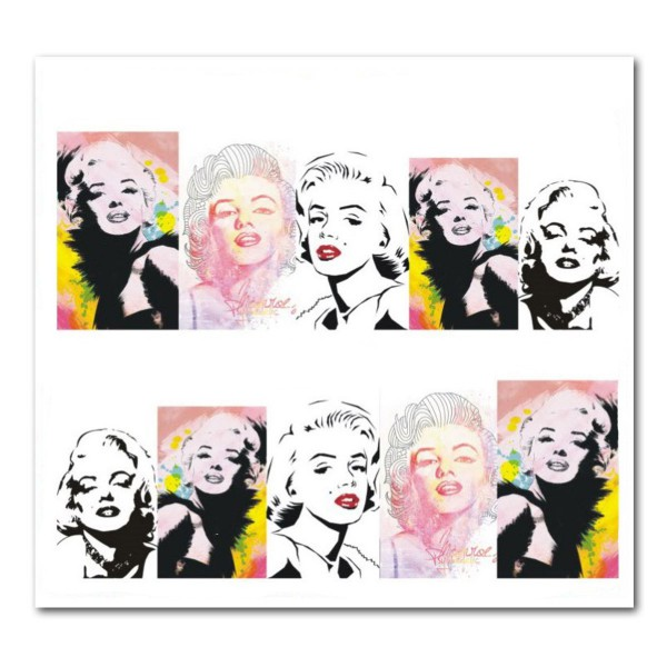 Nailart Tattoo Marilyn Monroe 12