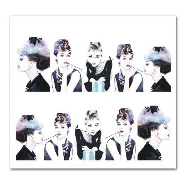 Nailart Tattoo Audrey Hepburn 4