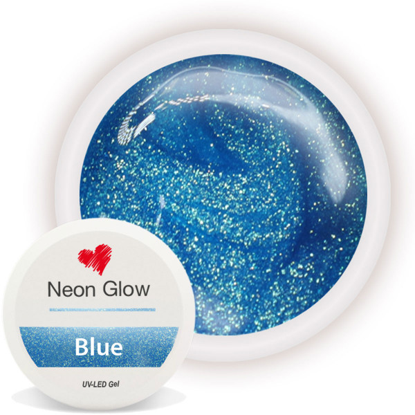 Neon Glow Farbgel Blue Blau nailart