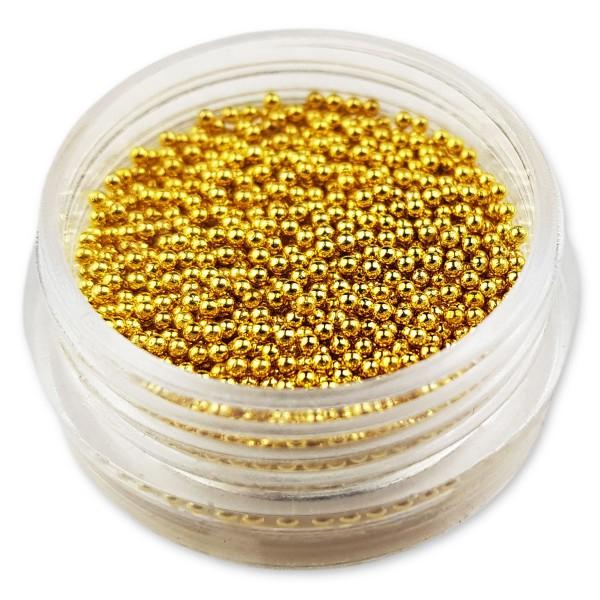 Micro Perlen Gold nailart