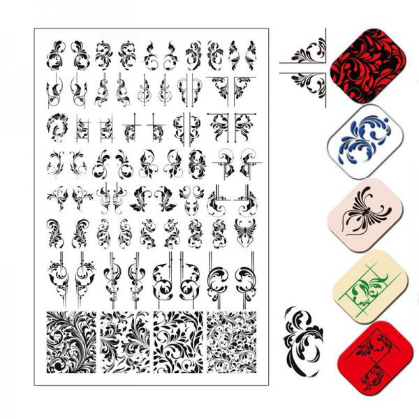 Schnörkel Stamping Schablone für Nägel
