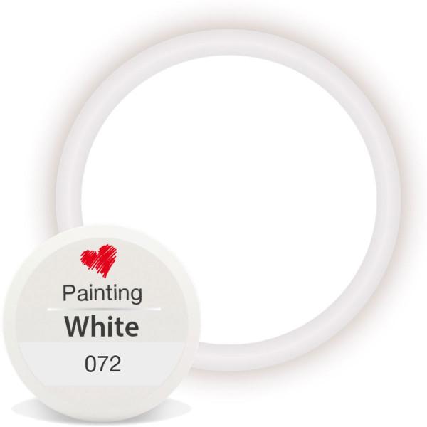 Painting Gel White Gelmalerei schnörkel nailart
