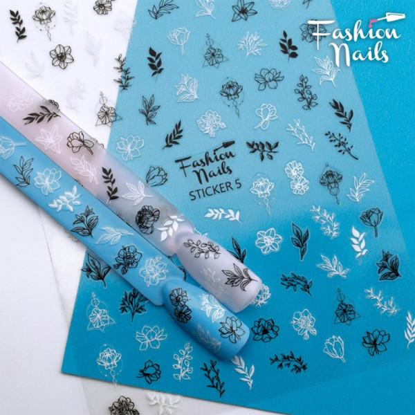 Sticker Fashion Nails einfache Nailart Schnörkel