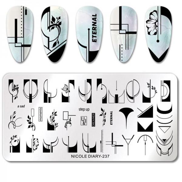 French Stamping Schablone für Nageldesign