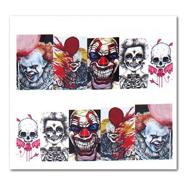 Nailart Tattoo Halloween clown