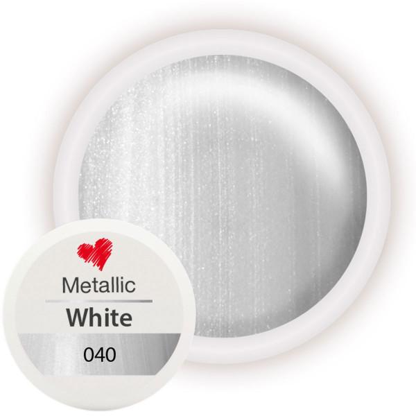 040-Metallic-Farbgel-White