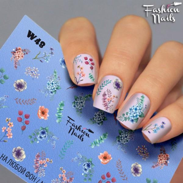 Blumen Slider White 48 von Fashion Nail