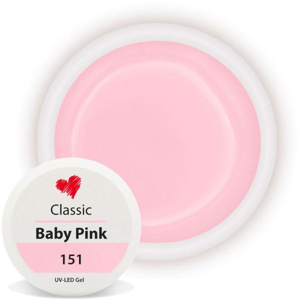 Classic Farbgel Baby Pink Nailart