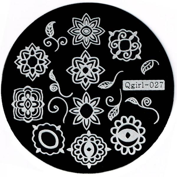 Stamping Schablone Qgirl-027