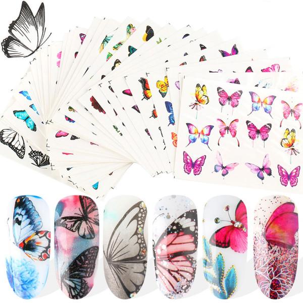 30x Schmetterling Tattoo Mix