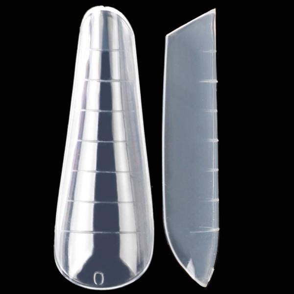 120 Dual Tips Russische Mandel für Nagelmodellage