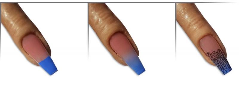 Babyboomer Blau Mit Stamping Lovenails Shop