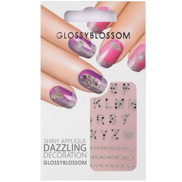 Glossy Blossom Nail Sticker 25 buchstaben