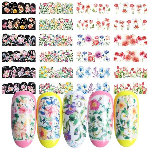 Nailart Tattoo Blume 74-85