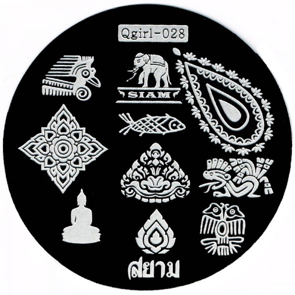 Stamping Schablone Qgirl-028