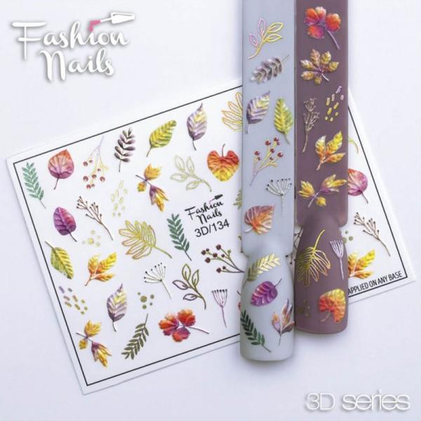 Blumen 3D Nail Slider 134 Fashion Nails