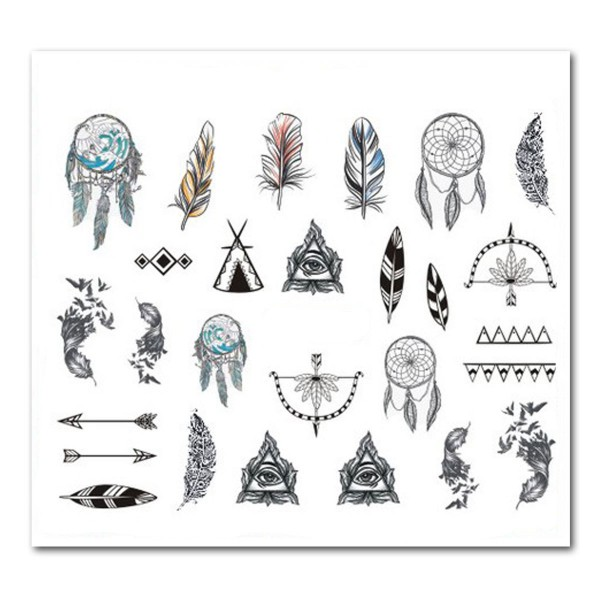 Nailart Tattoo Traumfänger 23
