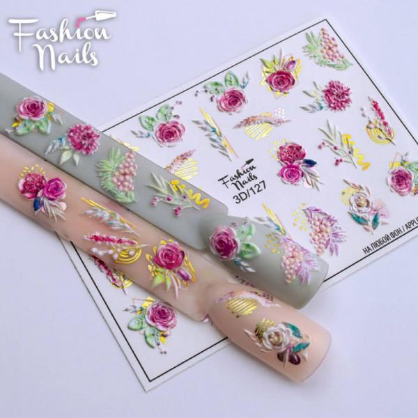 Blumen 3D Nail Slider 127 Fashion Nails