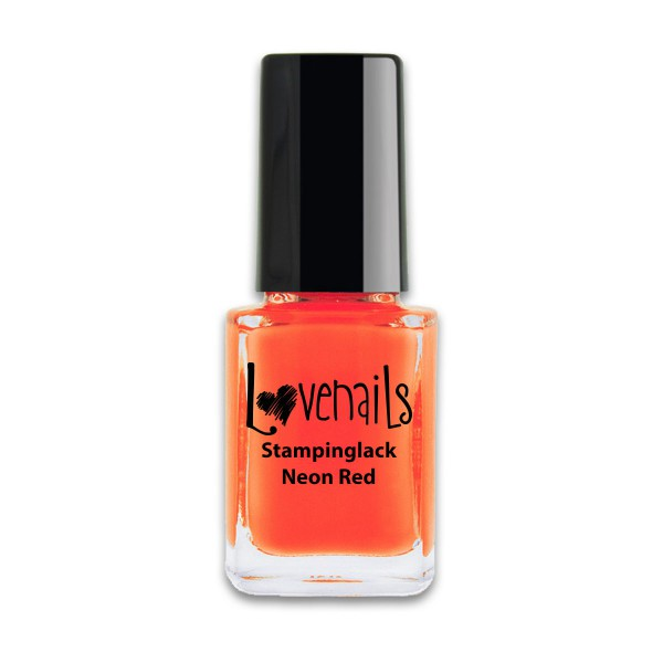 Lovenails Stamping Lack Neon Red 12ml