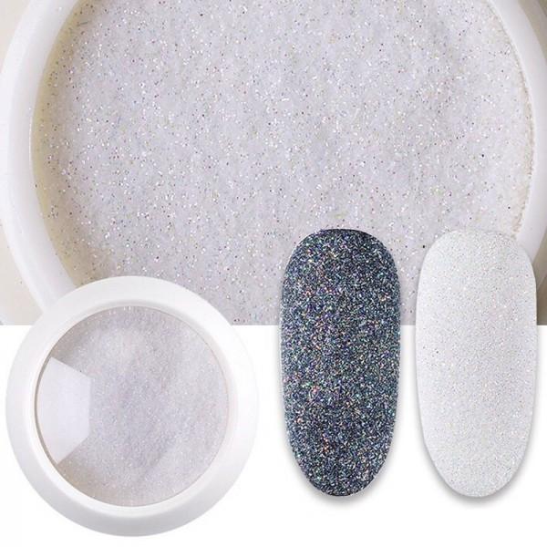 Sugar Glitter Nails Nailart Weiss