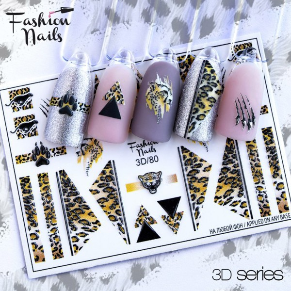 Fashion Nails 3D Slider Leo Muster