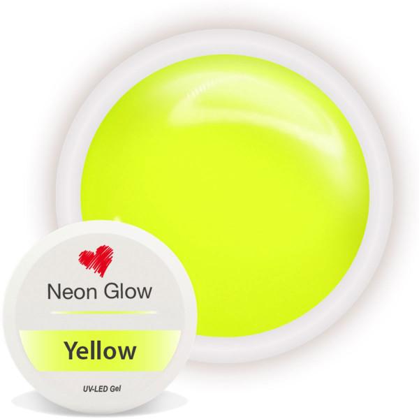 Neon Glow Farbgel Yellow gelb nailart