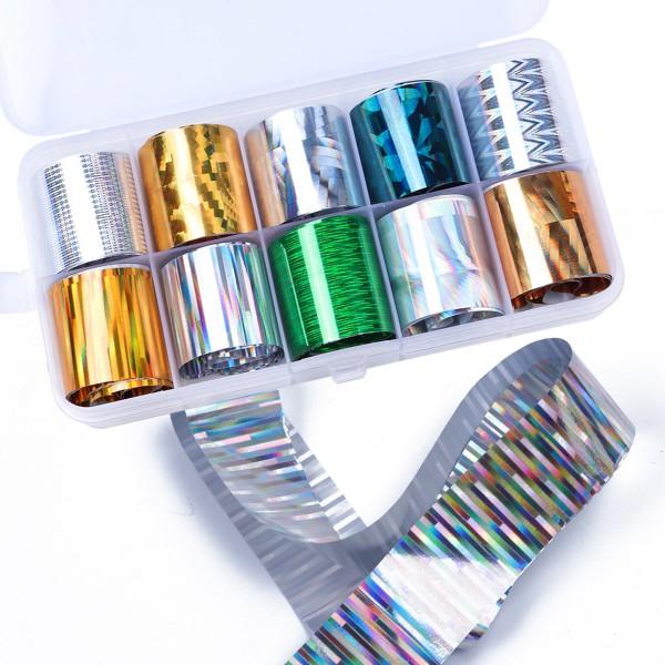 Transferfolien Box Metallic für Nailart