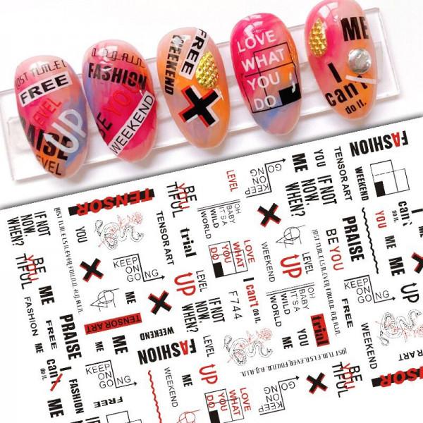 Nail Sticker Schrift Nailart