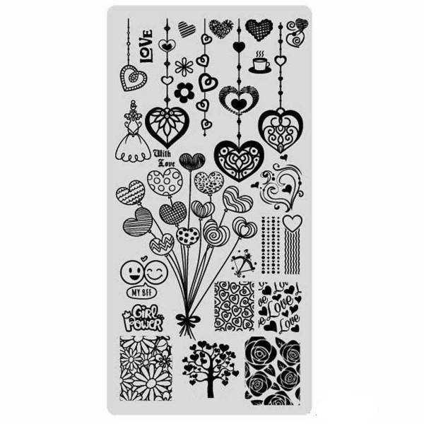 Stamping Schablone Love 3