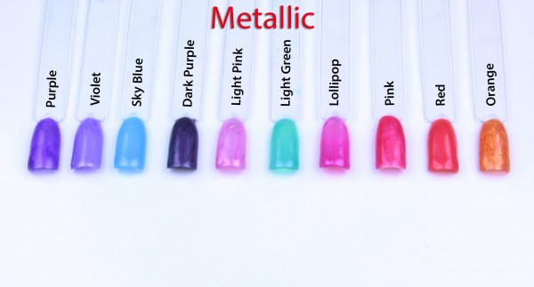 Lovenails Metallic Farbgel 10er Set