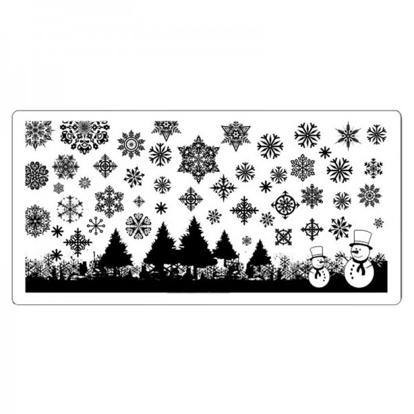 Stamping Schablone Xmas 6