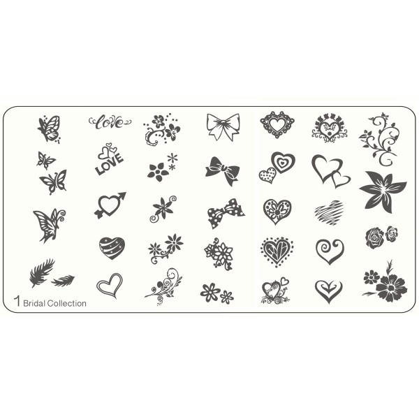 MoYou Nails Stamping Schablone Bridal Collection 1