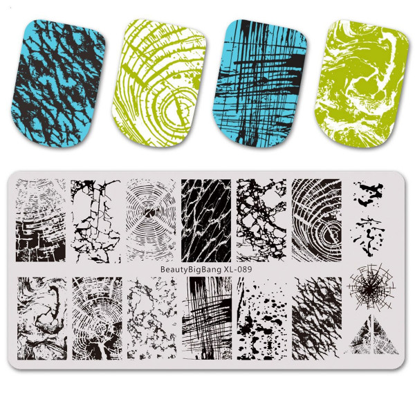 Marmor Stamping Schablone Beauty 89