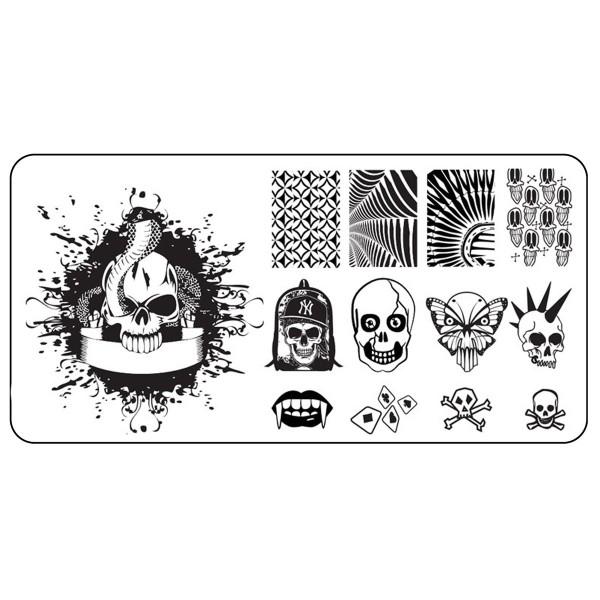 Stamping Schablone Skull 8