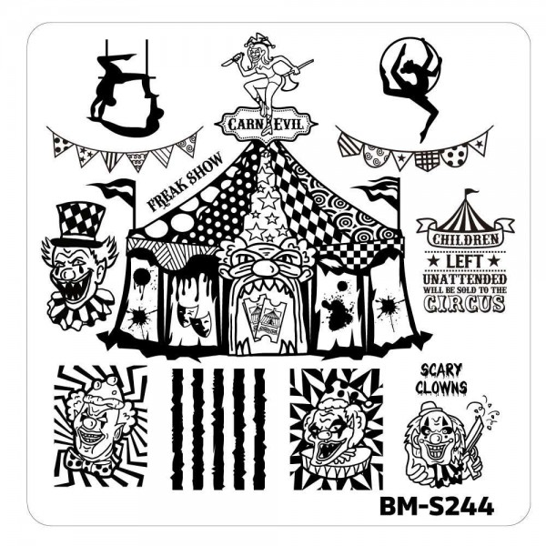 Stamping Schablone BM-S244