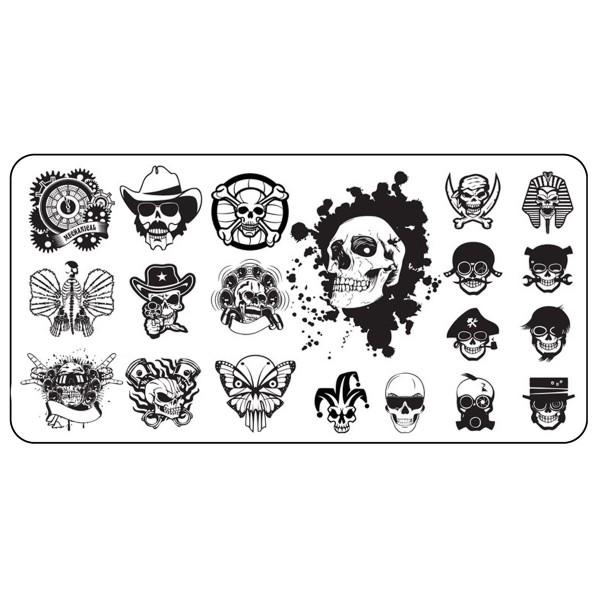 Stamping Schablone Skull 6