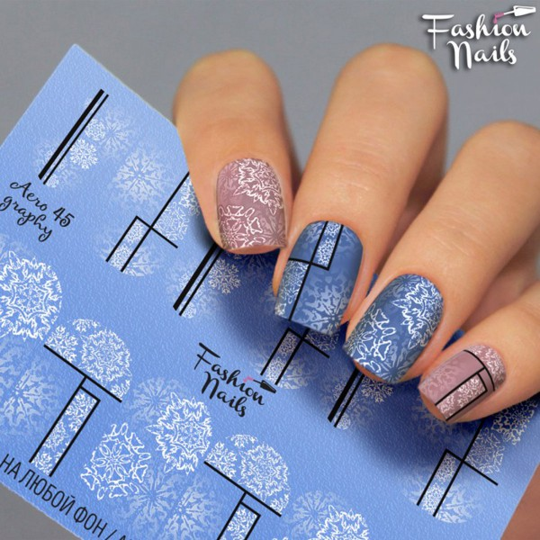 Airbrush Nail Slider Schneeflocke Winter