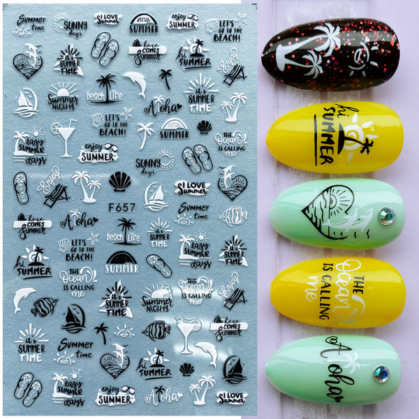 Nail Sticker Summer Nailart Sommer nägel