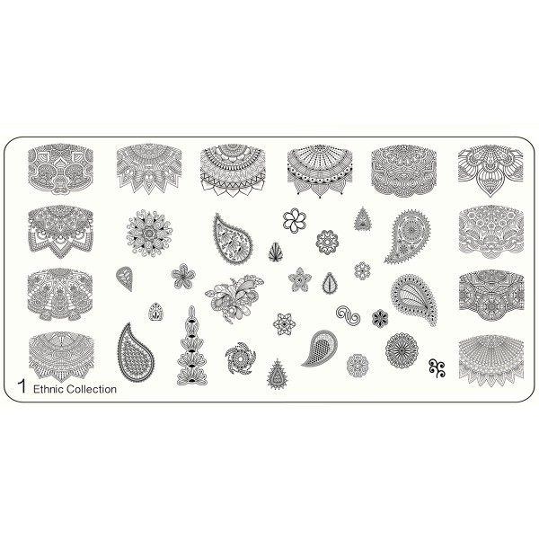 MoYou Nails Stamping Schablone Ethnic 1