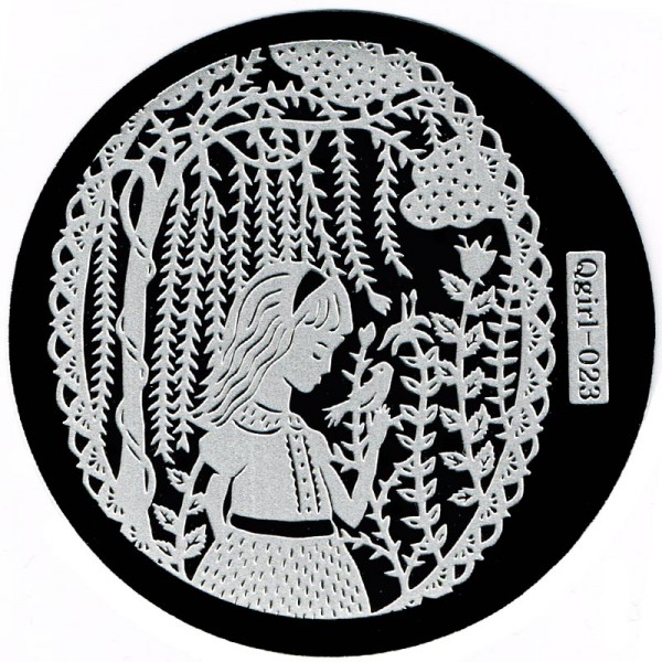 Stamping Schablone Qgirl-023