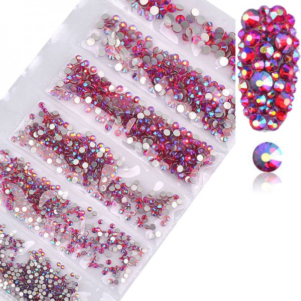 Strass Mix Siam Red AB