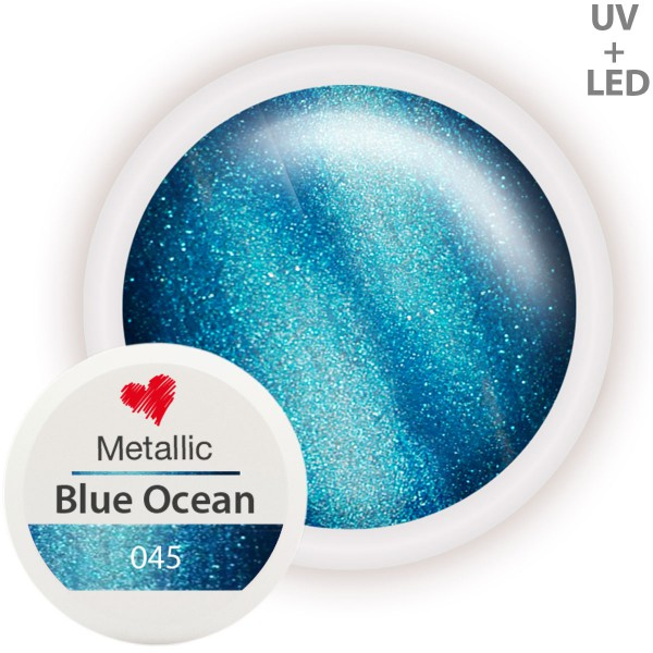 Metallic Farbgel 045 Blue Ocean 5ml